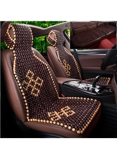 Modern Style Geometric Pattern Wooden Bead Universal Single Car Seat Cover