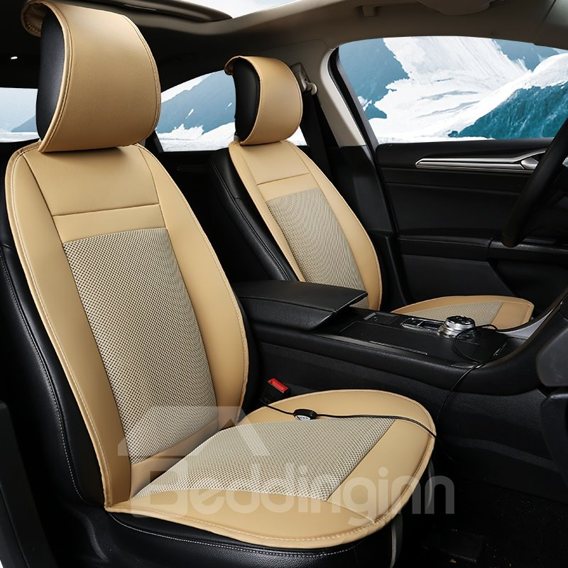 Business Style Design With Internal Cooling System Universal Car Seat Cover Mat Single Piece