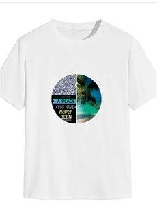 Beddinginn Print Casual Letter Straight Men's T-shirt