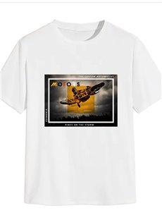 Beddinginn Letter Casual Print Straight Men's T-shirt
