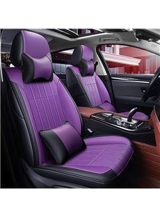 Luxury Plain Pattern Simple Style PU Leather Custom Car Seat Cover