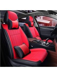 Luxury Plain Pattern Simple Style PU Leather Custom Car Seat Cover