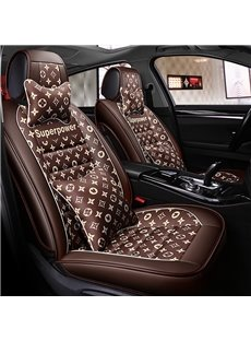 Luxury Creative Style Floral Pattern PU Leather Universal Car Seat Cover