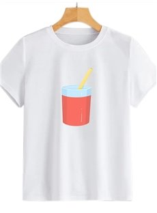Beddinginn Round Neck Standard Color Block Short Sleeve Straight Women's T-Shirt