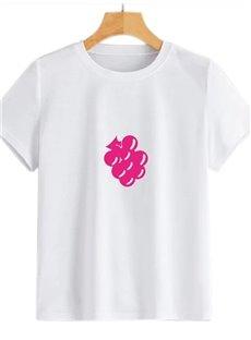 Beddinginn Hand Painted Short Sleeve Round Neck Standard Women's T-Shirt