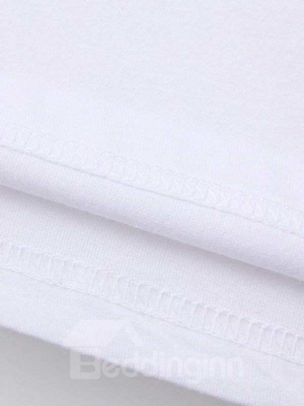 Beddinginn Short Sleeve Standard Round Neck Hand Painted Women