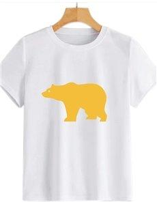 Beddinginn Short Sleeve Round Neck Hand Painted Standard Women's T-Shirt