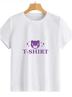Beddinginn Standard Round Neck Hand Painted Short Sleeve Women's T-Shirt