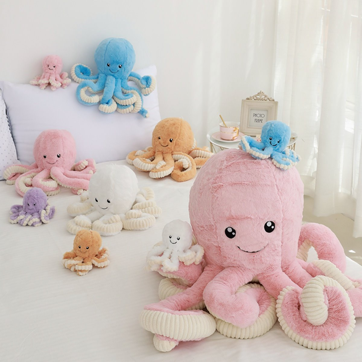 Super Cute And Skin-friendly Smiling Octopus Cotton Sleep Baby Pillow