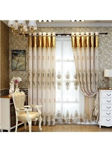 Vintage Floral Living Room/Bedroom Window Sheer Curtains