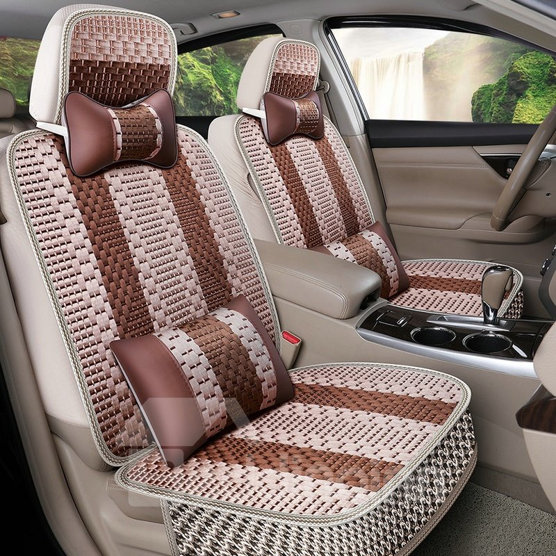 Stripe Patttern Machine Weave Universal Car Seat Cover Pic