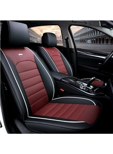 Modern Style Plain Patttern PVC Leather Universal Car Seat Cover