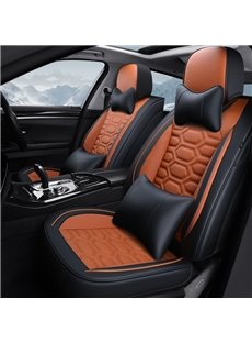 Simple Style Plain Patttern PVC Leather Universal Car Seat Cover