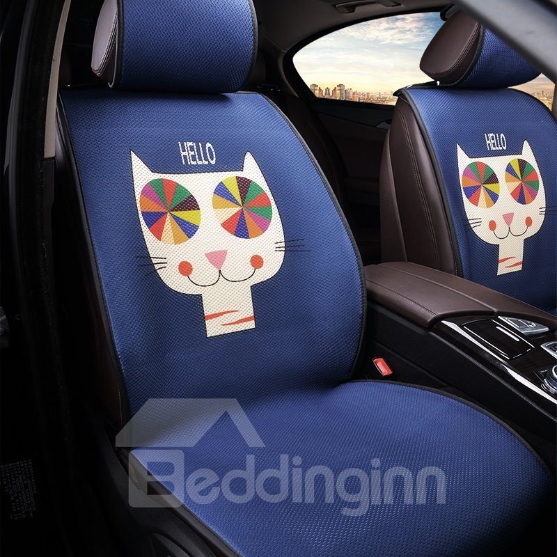 Creative Style Cute Cartoon Pattern Cloth Material Universal Single Car Seat Cover