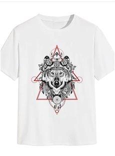 Beddinginn Casual Hand Painted Print Short Sleeve Men's T-shirt