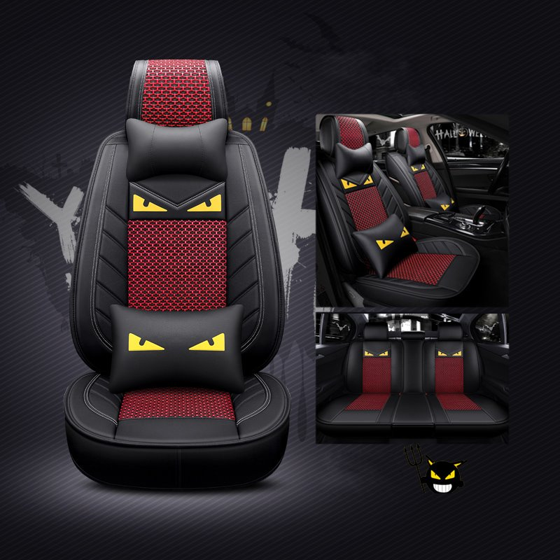 Cartoon Little Devil Ice Silk Universal Car Seat Cover Pic