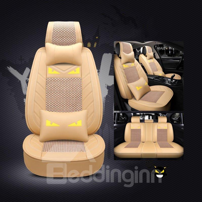 Luxury Creative Style Cartoon Little Devil Ice Silk Universal Car Seat Cover