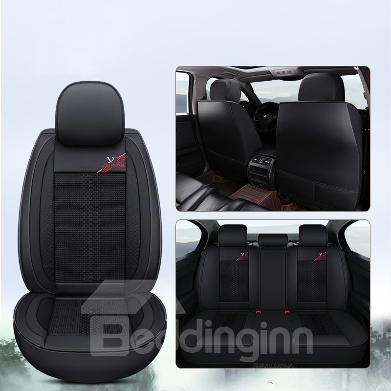 Simple Style Color Block Pattern Ice Silk Material Universal Car Seat Cover