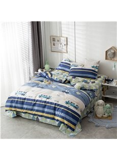 Beddinginn Four-Piece Set Reactive Printing Duvet Cover Set Machine Wash Cotton Bedding Sets