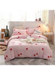 Beddinginn Hand Wash Duvet Cover Set Four-Piece Set Diagonal Cotton Bedding Sets