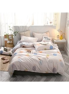 Beddinginn Duvet Cover Set Quilting Seam Machine Wash Four-Piece Set Cotton Bedding Sets