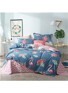 Beddinginn Hand Wash Duvet Cover Set Diagonal Four-Piece Set Cotton Bedding Sets
