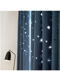 Romantic Starry Sky Curtains - Space Inspired Night Sky Twinkle Star Kid's Room