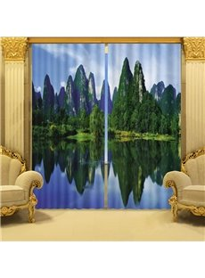 Beddinginn 3D Nature Forest Modern Blackout Curtain