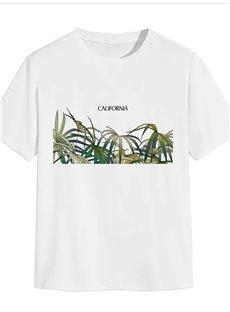 Beddinginn Creative Casual Print Letter Straight Men's T-shirt
