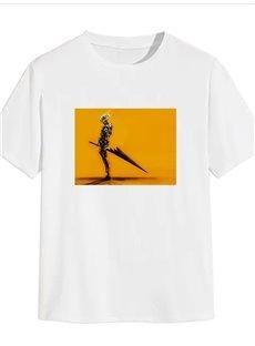 Beddinginn Print Hand Painted Casual Short Sleeve Men's T-shirt
