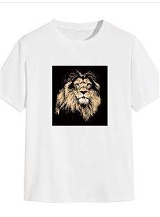 Beddinginn Print Color Block Casual Short Sleeve Men's T-shirt