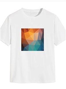 Beddinginn Print Geometric Casual Short Sleeve Men's T-shirt