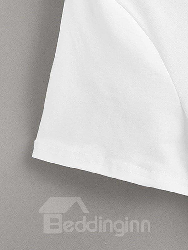 Beddinginn Letter Casual Print Hand Painted Straight Men