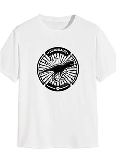 Beddinginn Casual Animal Print Short Sleeve Men's T-shirt