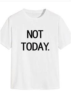 Beddinginn Short Sleeve Casual Letter Print Men's T-shirt