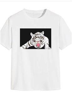 Beddinginn Print Hand Painted Casual Straight Men's T-shirt