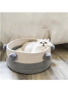 Hand-knitted Wool Ball Cat House