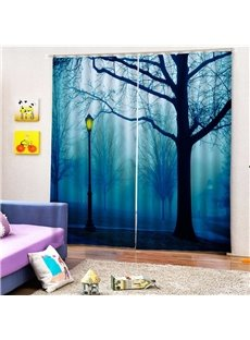 Beddinginn Blackout Modern 3D Painted Tree Curtains/Window Screens
