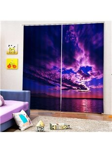 Beddinginn Blackout Creative 3D Sunset Curtain Curtains/Window Screens