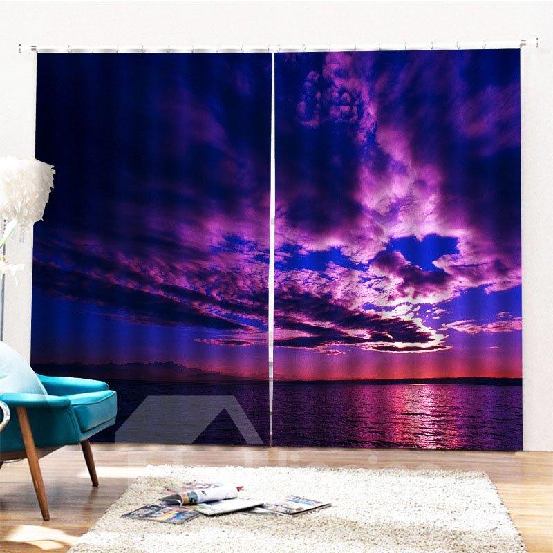 Beddinginn Blackout Creative 3D Sunset Curtain Curtains/Window Screens