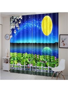 Beddinginn Curtain Decoration Beautiful Moon Modern Curtains/Window Screens