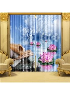 Beddinginn Blackout Creative Blue Curtain Curtains/Window Screens