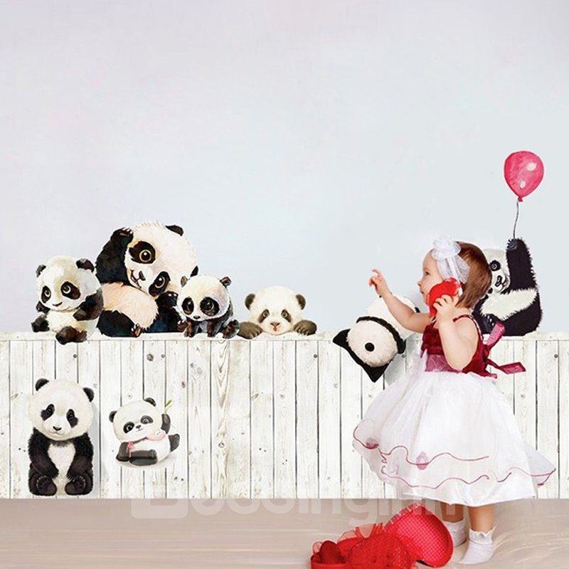 Beddinginn Cute Pandas Creative Wall Stickers / Wall Decorations
