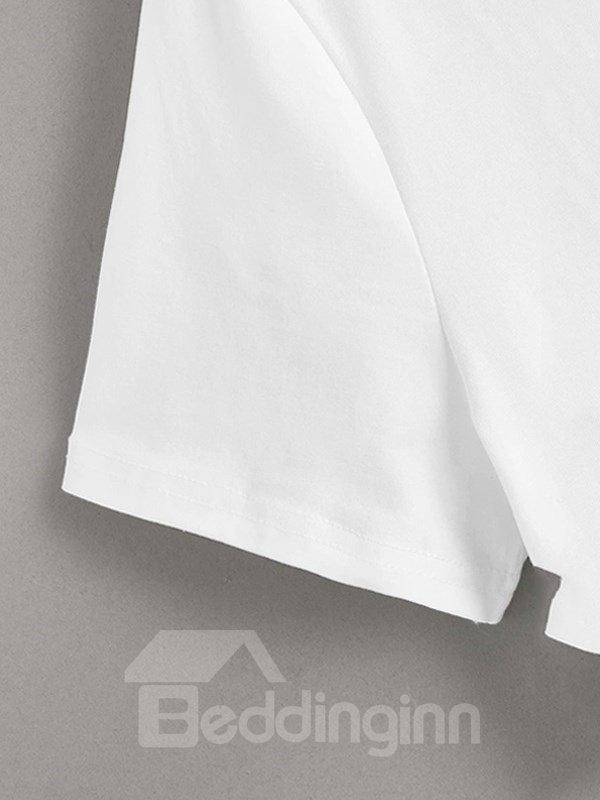 Beddinginn Standard Short Sleeve Animal Round Neck Summer Women