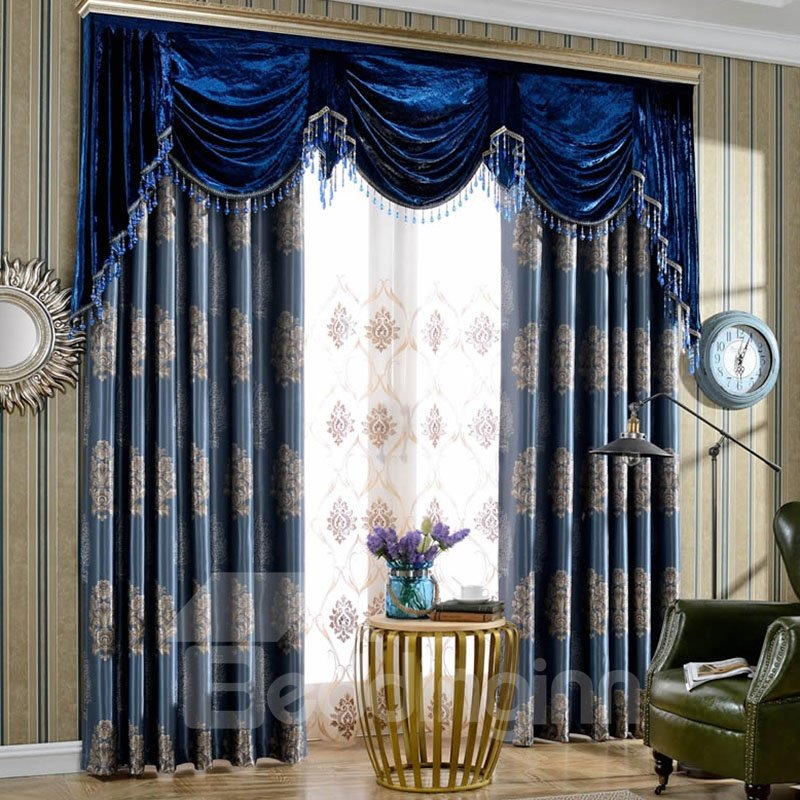 Embroidered Curtain Panels Living Room Pic