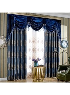 Beddinginn Decoration Jacquard Valance Curtain Modern Curtains/Window Screens