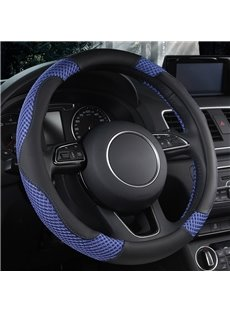 Sports Style Multi-Colored Embossing Pattern Anti-Slip Durable Breathable & Odor Free Steering Wheel Cover