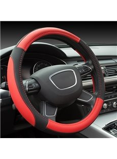 Elegant And Luxurious Healthy Anti-Slip Excellent Grip(Polychrome) PU Leather Steering Wheel Cover