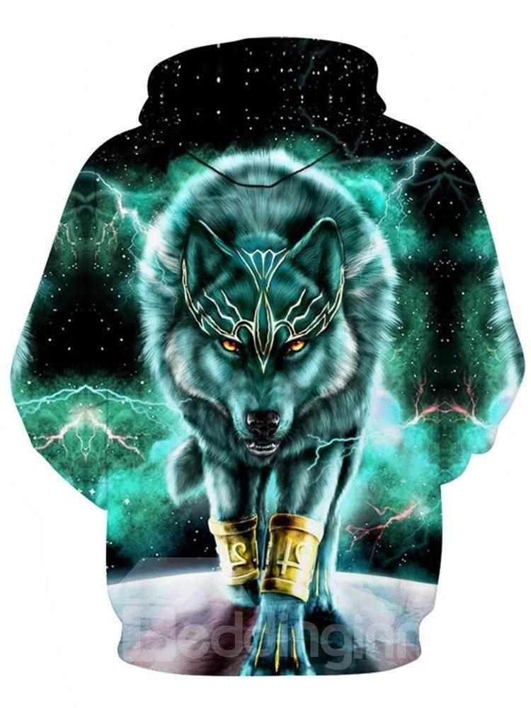 Beddinginn Color Block Print Thick Pullover Fall Men