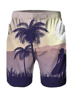 Beddinginn Straight Pleated Plant Casual Men's Shorts